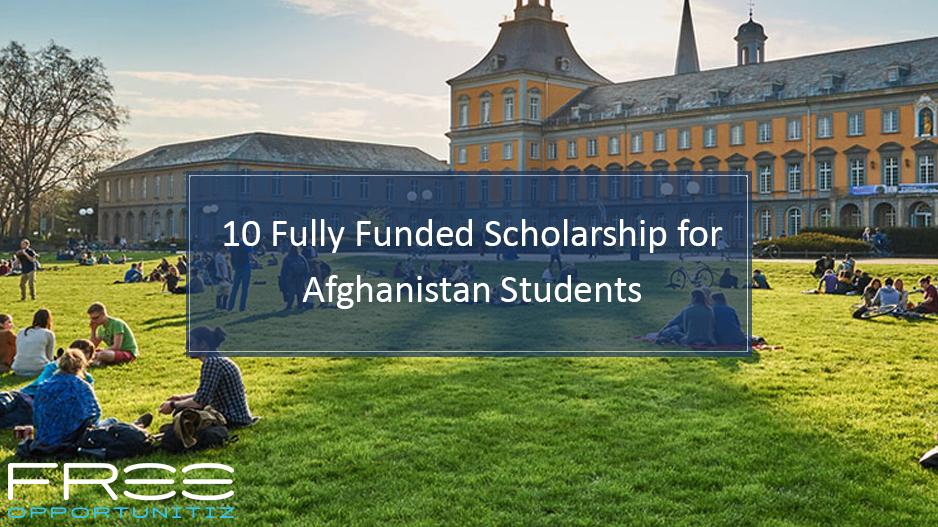 International Scholarship for Afghanistan Students